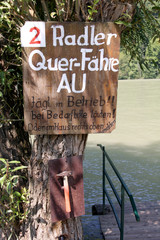 Call of the boat for cyclists - Danube (Austria)