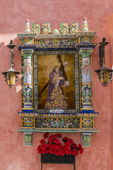 religious worship detail on a spanish building.