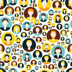 men and women seamless pattern