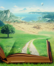 "Постер, картина, фотообои ""magic book and eco concept"""