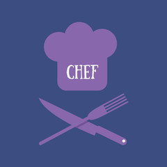 Abstract Vector Design Chef logo for restaurant