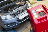 Servicing car air conditioner in vehicle service - 79463056