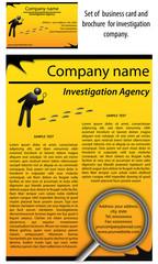 Set biglietto e brochure agenzia investigativa