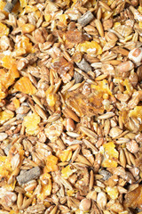 natural sportive  muesli background. for horse.close up