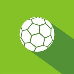 Icono balón fútbol verde sombra