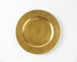 Round gold charger plate - 79465277