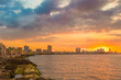 Beautiful colorful sunset in Havana