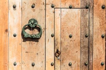 Wooden colonial style door