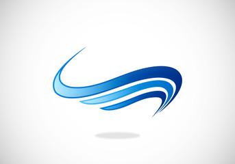 loop stripe abstract vector logo