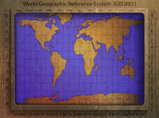 world geographic reference system, world map