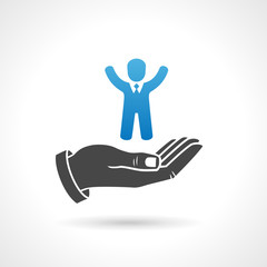 Human Resources Icon, Business Concept Symbol
