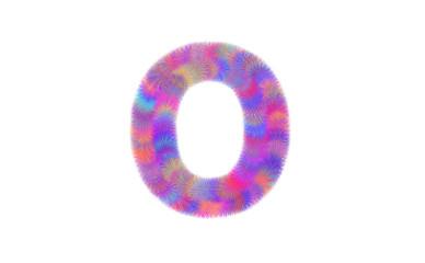 colorful fur of font