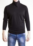 man figure in black  turtleneck sweater