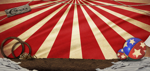 circus illustration abstract background