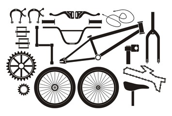 BMX parts - pictogram