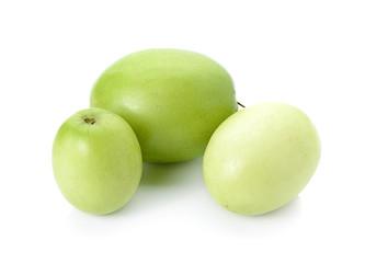 Green Monkey apple on white background