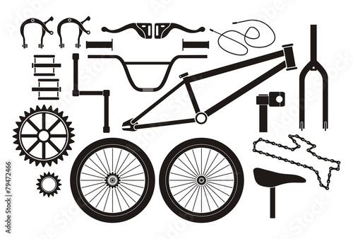 Fototapeta BMX parts - pictogram