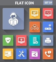 Vector application Computer Technician Icons set