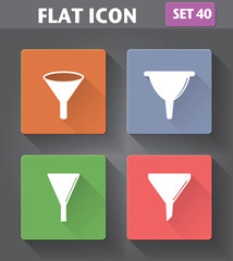 Vector application Filter, Funnel Icons set