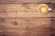 Leinwandbild Motiv coffee on wood table texture with space for text