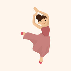 dancer theme elements vector,eps