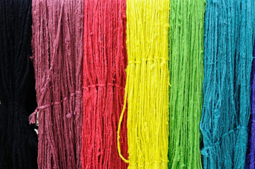 Colorful string silk luxury clothing material