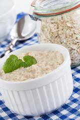 Porridge and milk
