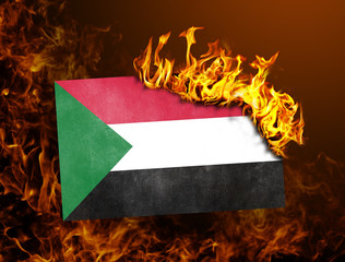 Flag burning - Sudan
