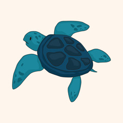 Tortoise theme elements vector,eps