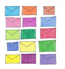 colorful mails