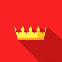 illustration of a crown in flat design style
