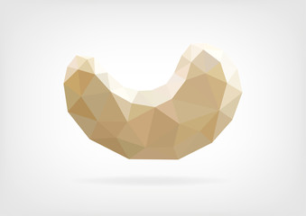 Low Poly Cashew nut