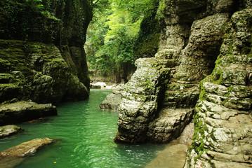 Martvili canyon. Georgia.