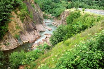 Mountain river. Georgia.