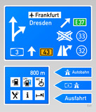 Autobahn signs