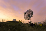 Satellite dish used in an astronomical observatory.