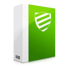 Zielona ilustracja bezpiecznego oprogramowania