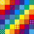 Patchwork pattern of rainbow colors. - 79484479