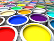 colorful paint can