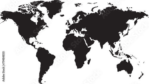 Zdjęcia na płótnie, fototapety, obrazy : World map isolated on white background