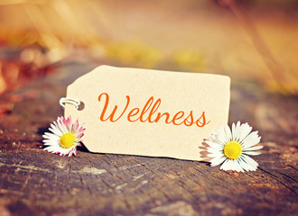 outdoor greeting card with text - wellness