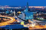 Winnipeg panorama at sunset