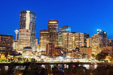 Evening panorama of Calgary