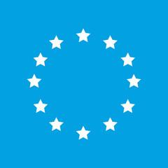 European Union white icon