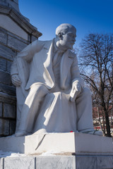 Lenin Statue in White