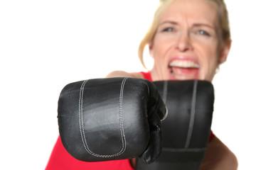 Frauen beim Boxen