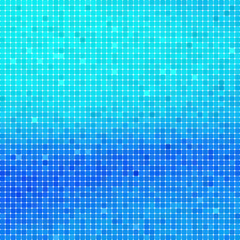 Abstract square blue mosaic background.