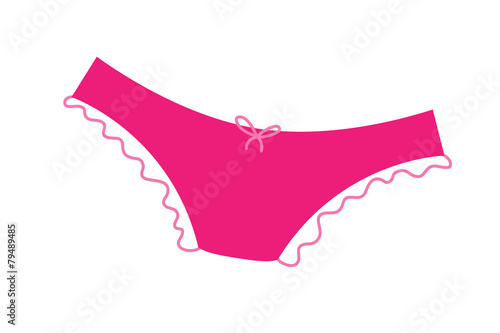 Pink panties with frill icon. - 79489485