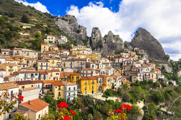 Castelmezzano - beautiful mountain village in Basilicata, Italy