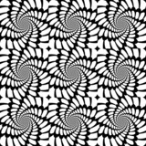 Design seamless monochrome movement illusion background